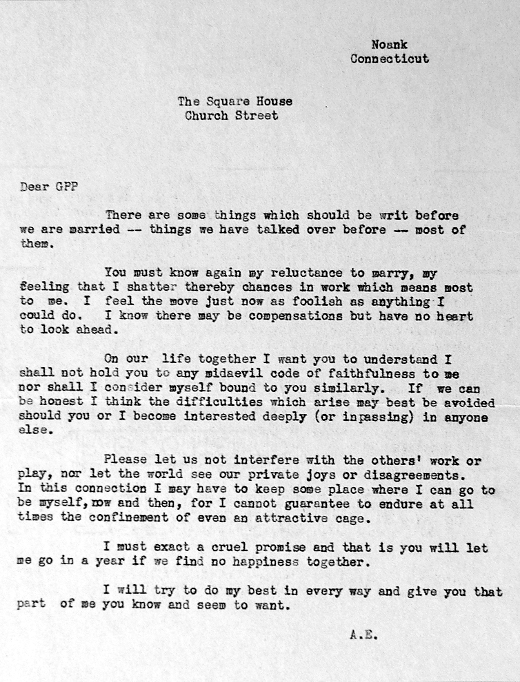 Amelia earhart letter