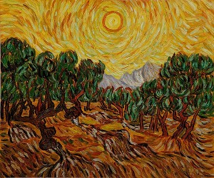 Van-Gogh-Painting-Olive-Trees-With-Yellow-Sky-And-Sun-300x250