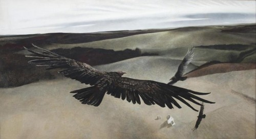 vulture -- soaring by andrew wyeth