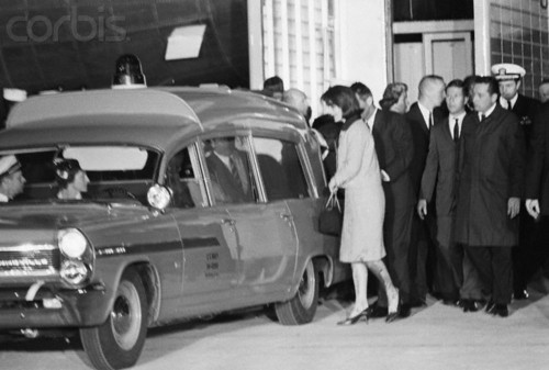 Jackie Kennedy With Hearse