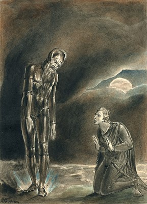 Hamlet and His Fathers Ghost by WIlliam Blake 1806