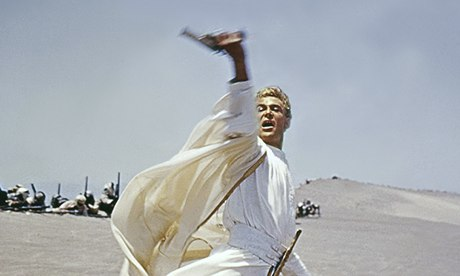 Peter O'Toole in Lawrence of Arabia, 1962.