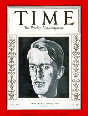T.E. Lawrence, Time Magazine, November 28, 1932