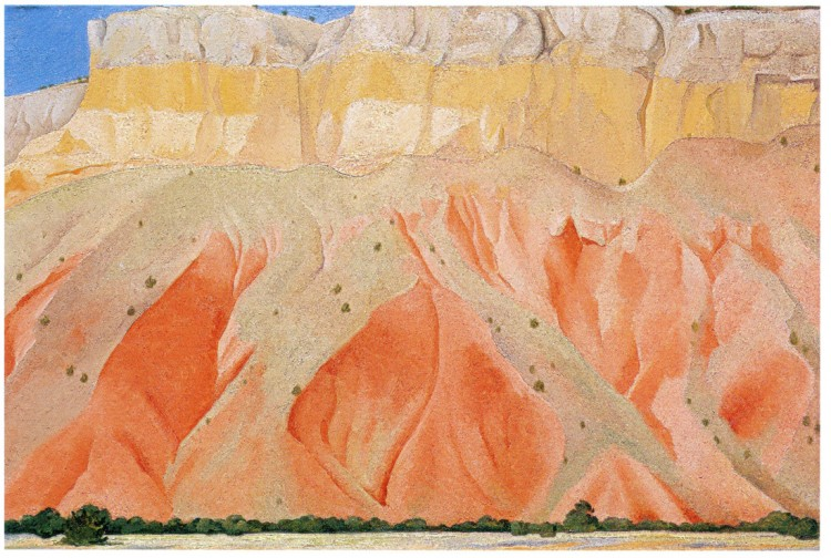 O'Keefe untitled red and yellow cliffs