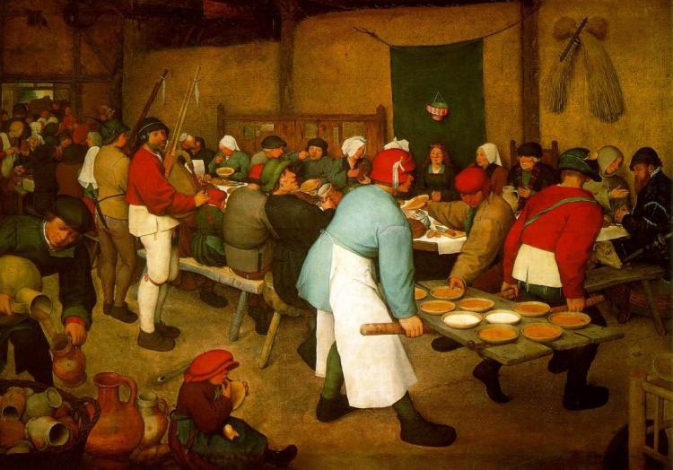 bruegel peasant wedding 1568