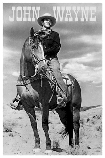 celebrity-john-wayne-horse-poster-ID1512