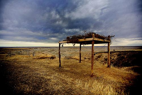 soiux burial platform