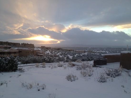 new years -- santa fe snow